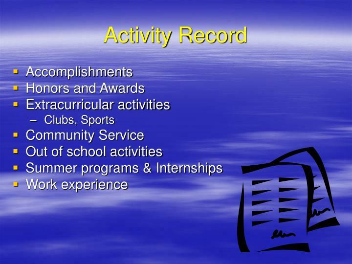 Activity Record
