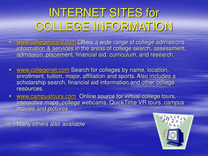 INTERNET SITES for