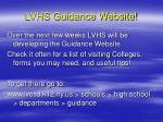 lvhs guidance website