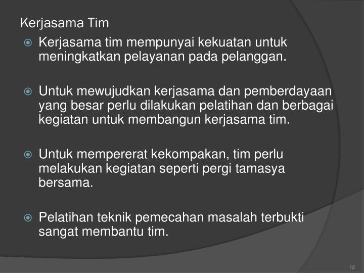 Kerjasama Tim
