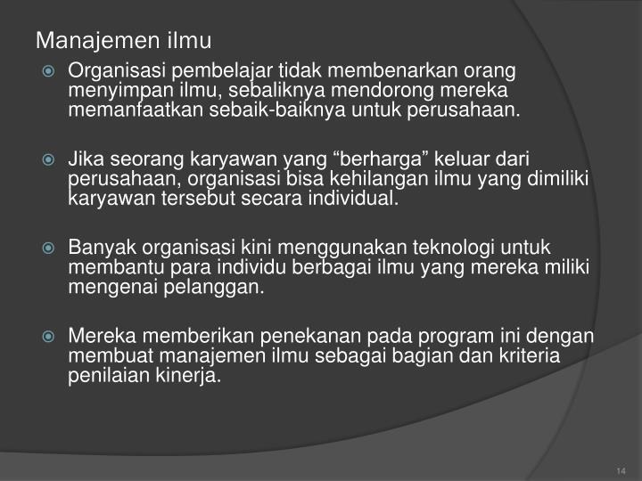 Manajemen ilmu