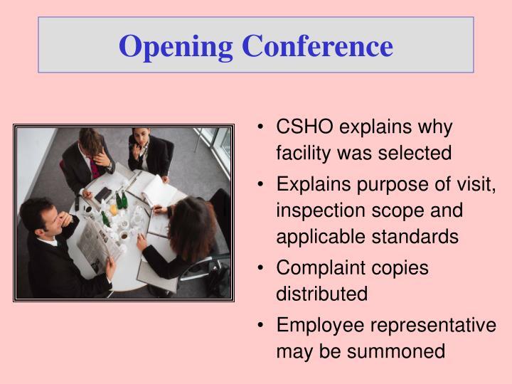 Opening Conference