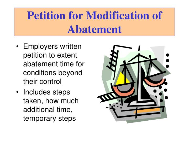 Petition for Modification of Abatement