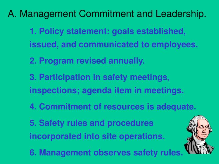 A. Management Commitment and Leadership.