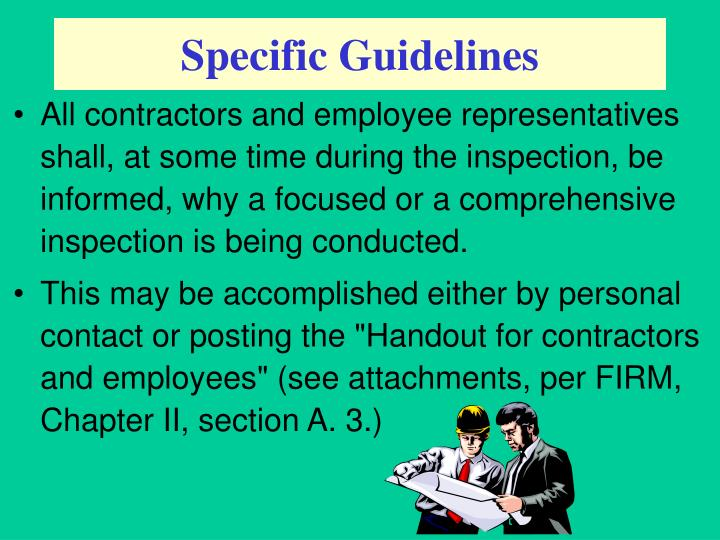 Specific Guidelines