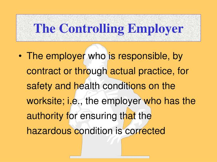 The Controlling Employer