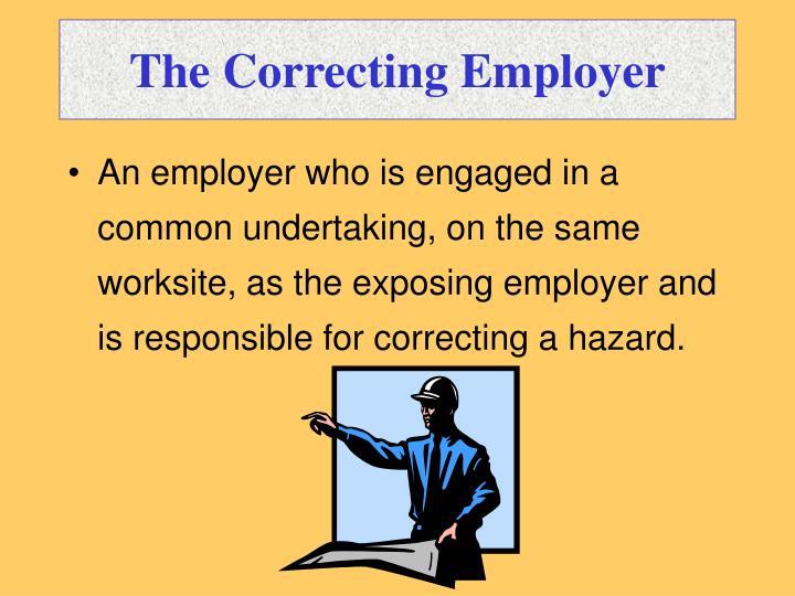 The Correcting Employer