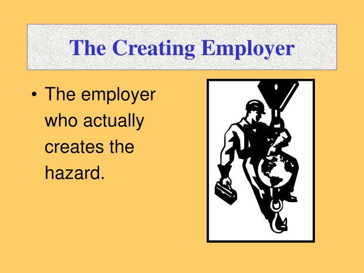 The Creating Employer