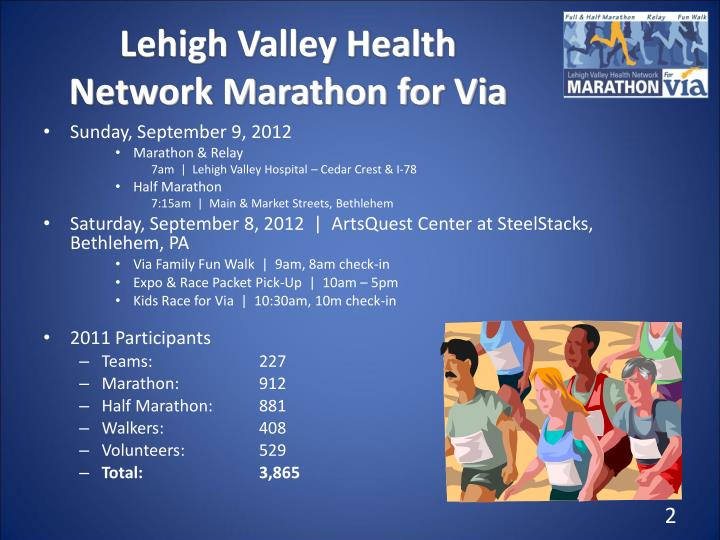 Lehigh Valley Health Network Marathon for Via