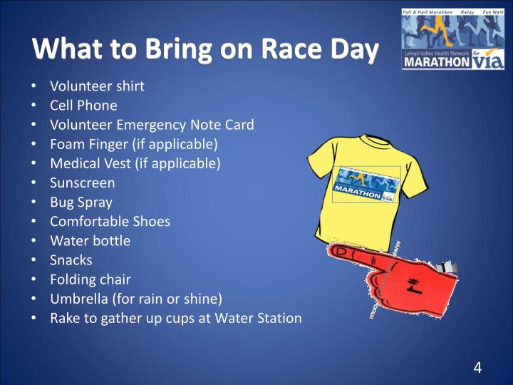 What to Bring on Race Day