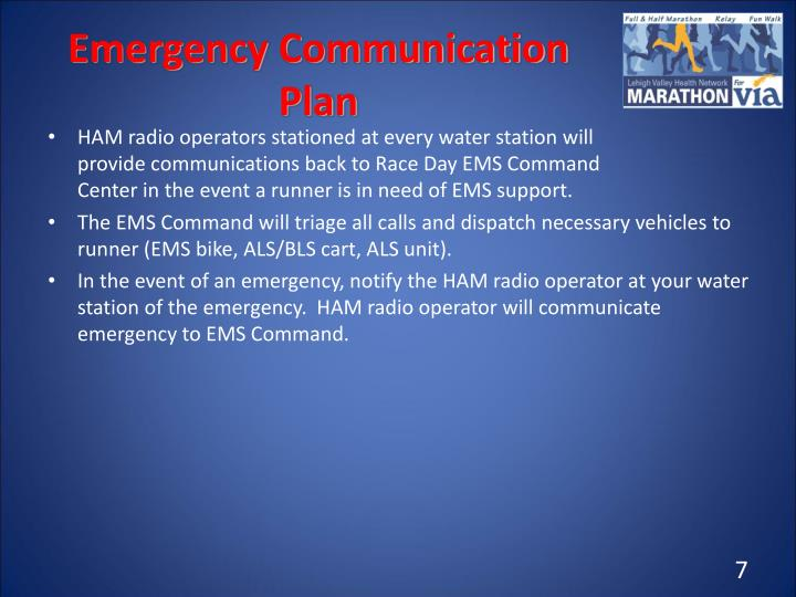 Emergency Communication Plan