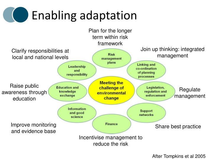 Enabling adaptation
