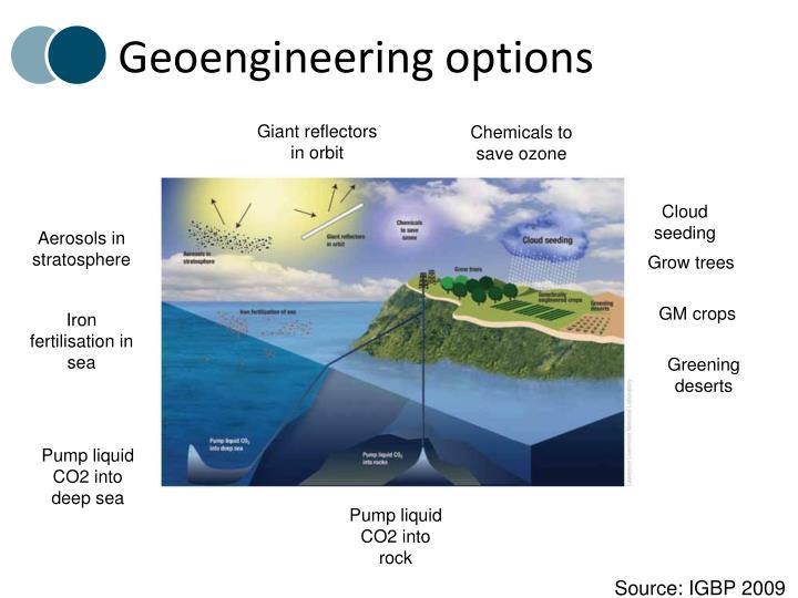 Geoengineering options
