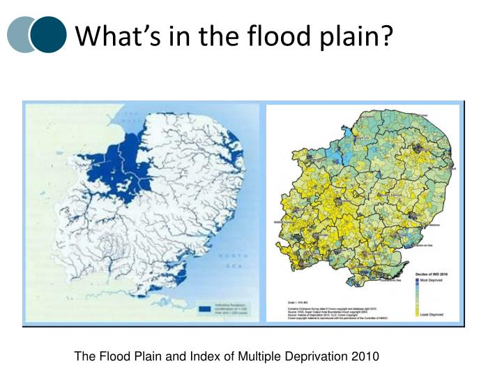 What's in the flood plain?