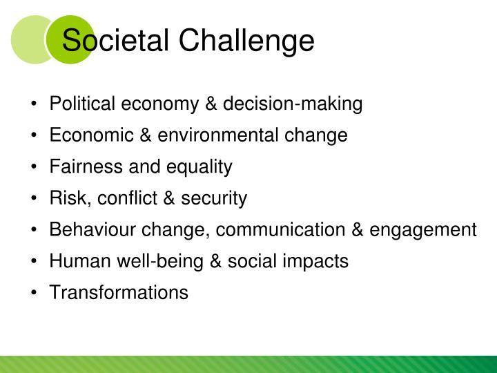 Societal Challenge