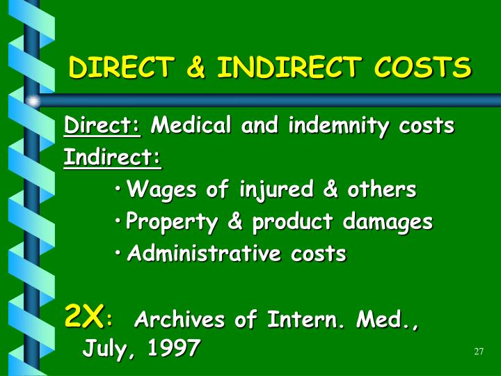 DIRECT & INDIRECT COSTS