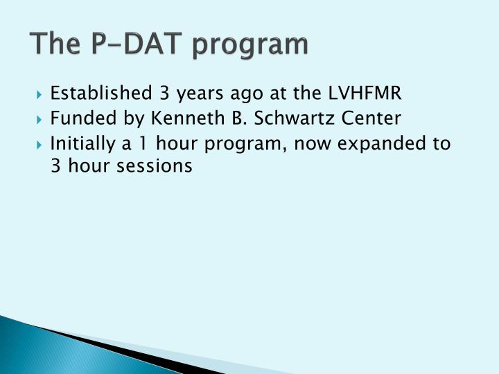 The P-DAT program