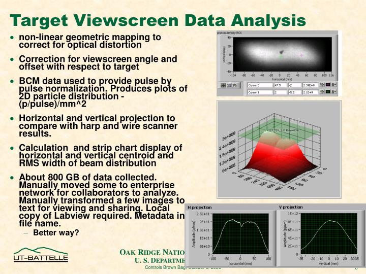 Target Viewscreen Data Analysis
