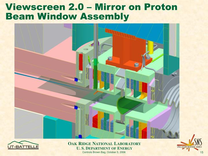 Viewscreen 2.0 – Mirror on Proton Beam Window Assembly