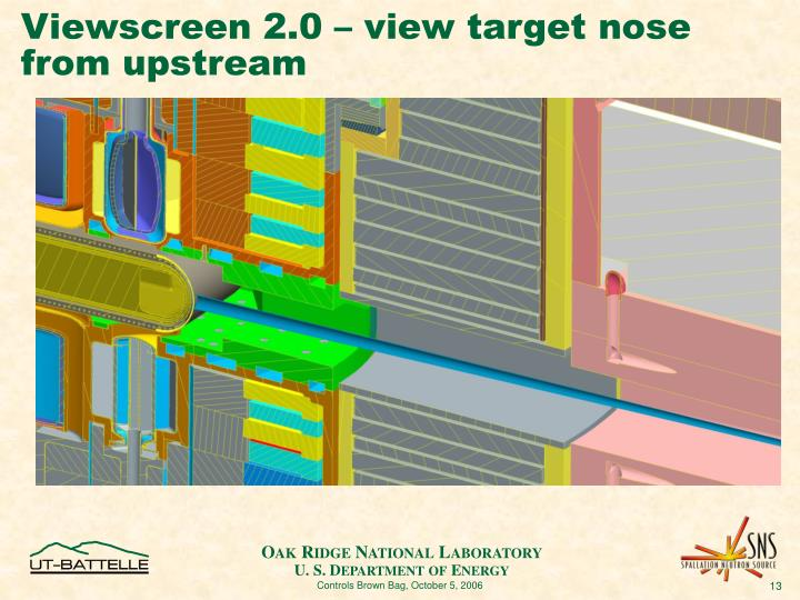 Viewscreen 2.0 – view target nose from upstream