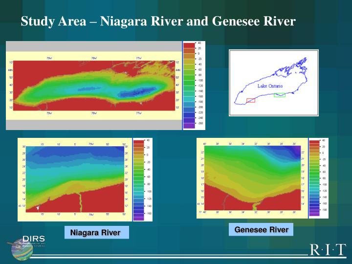 Study Area – Niagara River and Genesee River