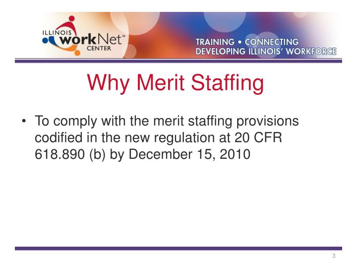 Why merit staffing