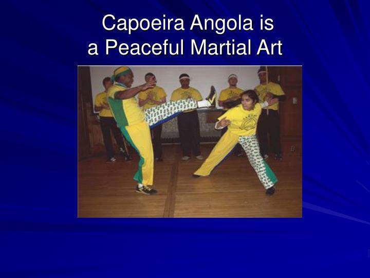 Capoeira Angola is