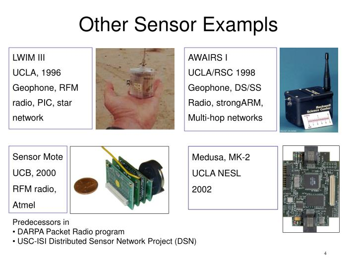 Other sensor exampls