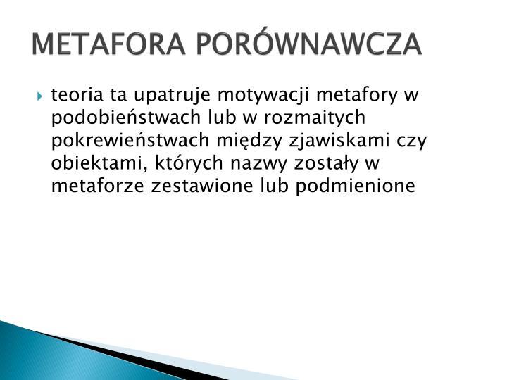 METAFORA PORÓWNAWCZA