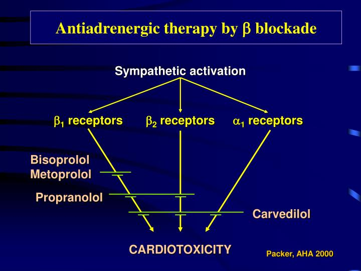 Antiadrenergic therapy by