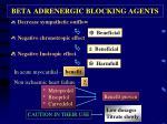 beta adrenergic blocking agents