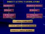 direct acting vasodilators