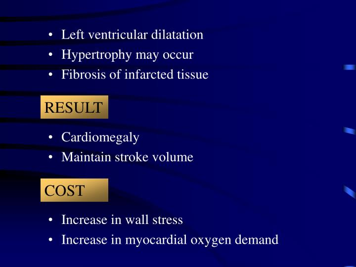 Left ventricular dilatation