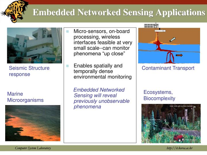Embedded Networked Sensing Applications