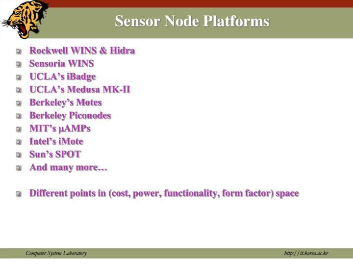 Sensor Node Platforms