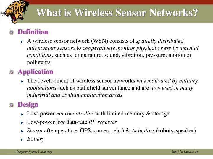 What is Wireless Sensor Networks?