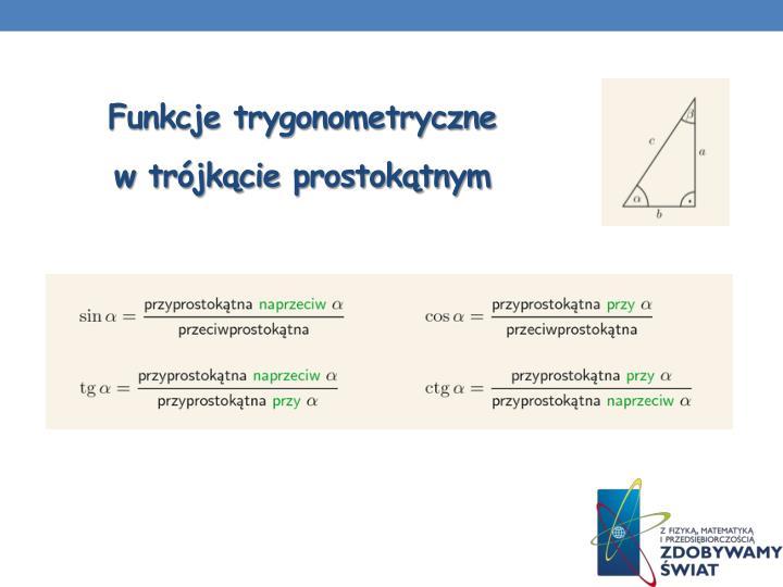 Funkcje trygonometryczne