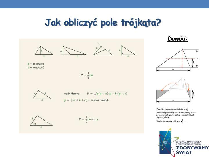 Jak obliczyć pole trójkąta?