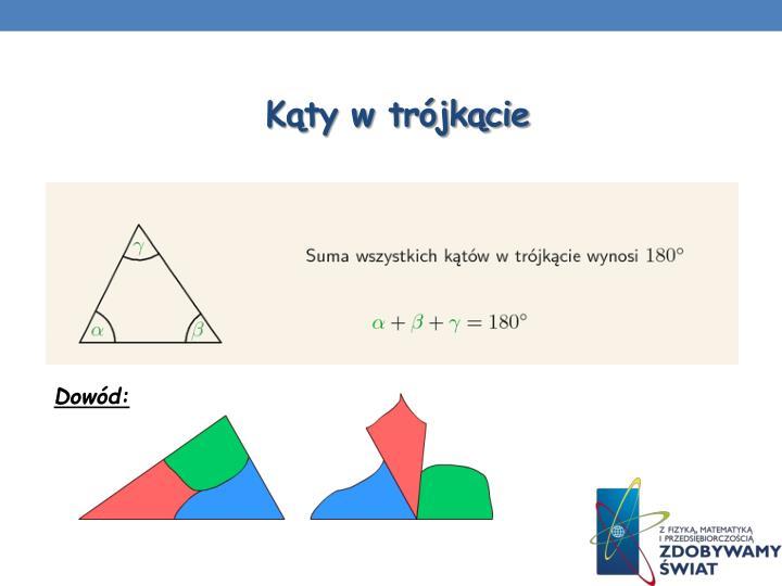 Kąty w trójkącie