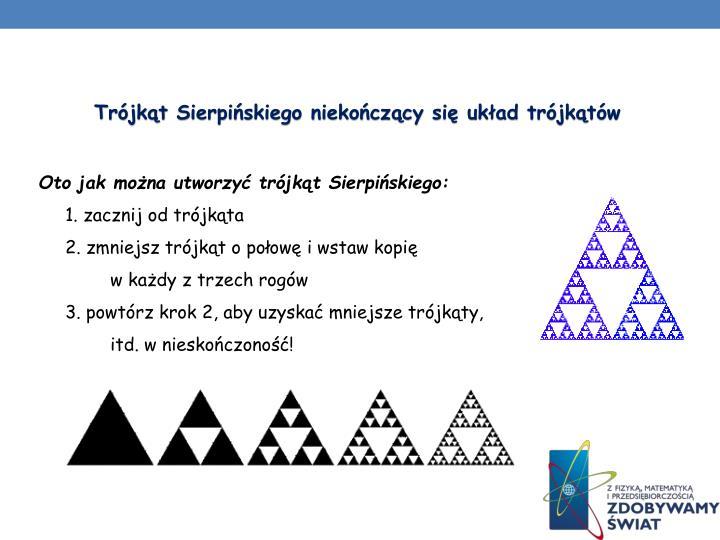 Trójkąt Sierpińskiego niekończący się układ trójkątów