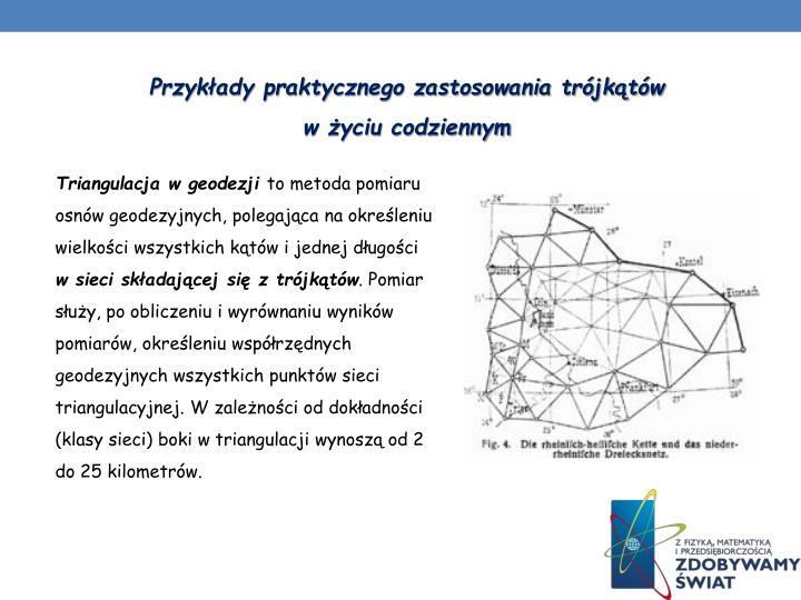 Przykłady praktycznego zastosowania trójkątów