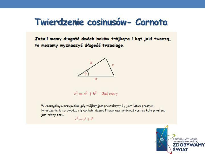 Twierdzenie cosinusów- Carnota