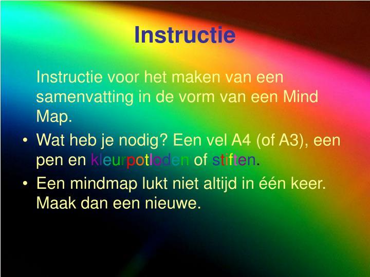 Instructie