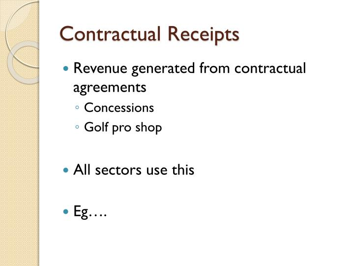 Contractual Receipts