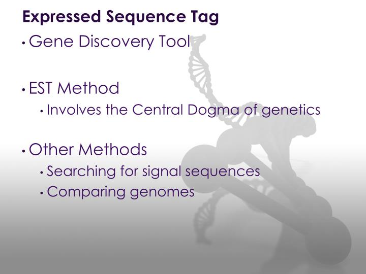 Expressed Sequence Tag