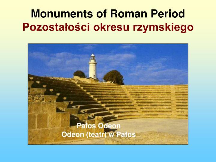 Monuments of Roman Period
