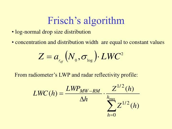 Frisch's algorithm