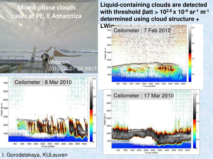 Liquid-containing clouds are detected with threshold