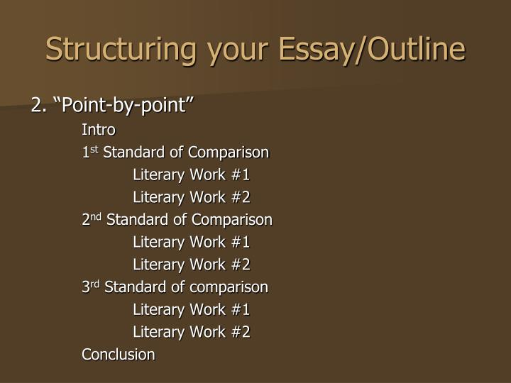 point of view essay structure Writing an argumentative essay the argumentative essay, although bearing many similarities to the persuasive (argument) essay, has several very distinct differences follow each point with an opposing view related f third point and supporting information.