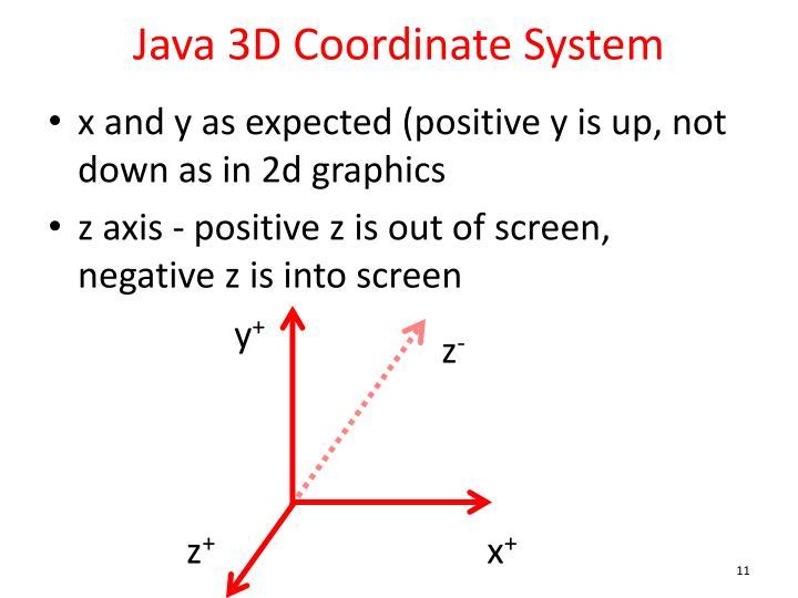 Java 3D Coordinate System